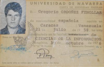 El carné de la Universidad de Navarra