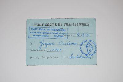 Ordóñez, miembro del sindicato Unión Social de Trabajadores