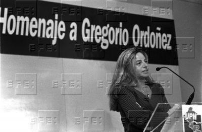 Consuelo Ordóñez, en el homenaje de UPN a su hermano