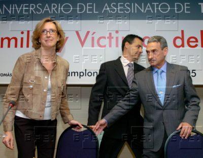 Ana Iríbar, en un acto en memoria de Tomás Caballero en Pamplona