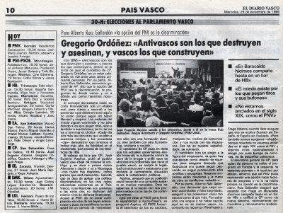 «Antivascos son los que asesinan»