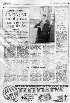 Entrevista sobre las elecciones municipales de 1995