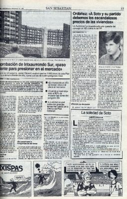 La querella de HB contra Ordóñez, desestimada