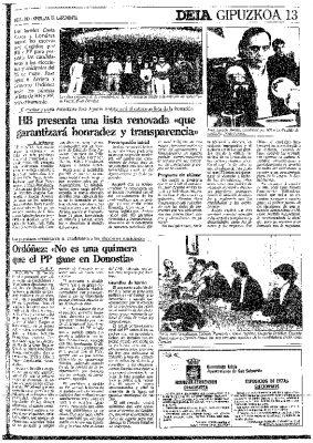 La alcaldía de San Sebastián, al alcance de Ordóñez