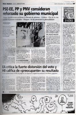 La meta para 1995: la alcaldía donostiarra
