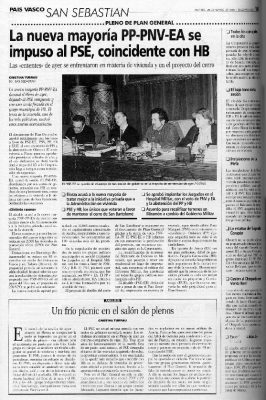 PP-PNV-EA, una nueva mayoría en el Ayuntamiento