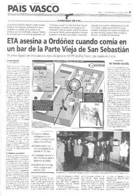 La reconstrucción del atentado: así mató ETA a Ordóñez