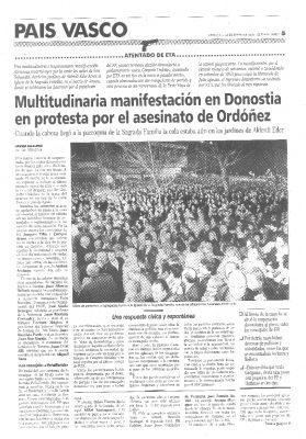 Una «impresionante manifestación» en protesta por el asesinato
