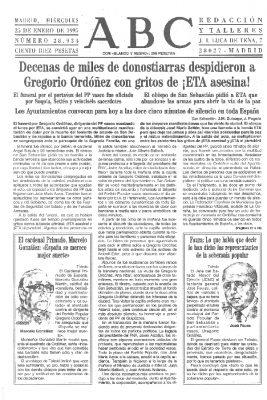 Gritos de «¡ETA asesina!» para despedir a Gregorio Ordóñez