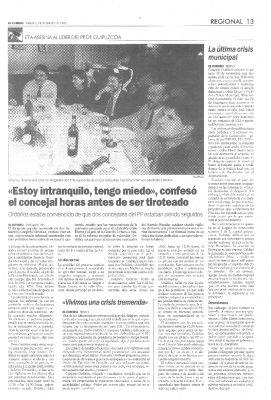 Los temores de Ordóñez tras la polémica por la corrupción en la Guardia Municipal