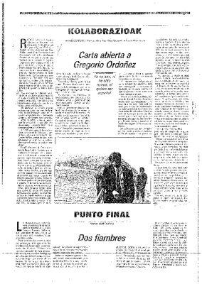 Carta a Gregorio Ordóñez: «Usted no merece ser vasco»
