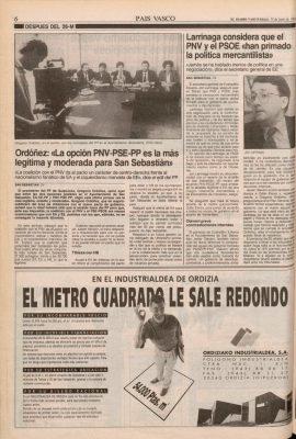 Ordóñez apuesta por un pacto con PSOE y PNV para gobernar San Sebastián