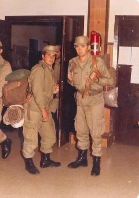 Maniobras en Jaca durante el servicio militar