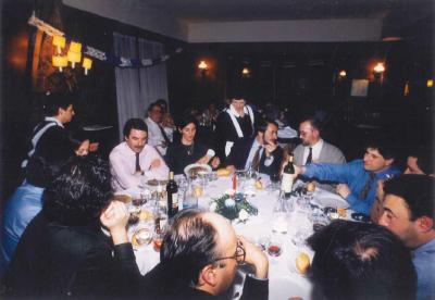 La última cena con los compañeros del partido