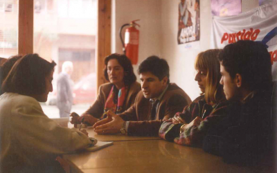 Una reunión en la sede del partido