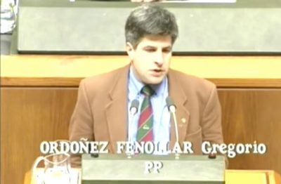 Ordóñez se pronuncia sobre la ley de servicios sociales en el Parlamento vasco