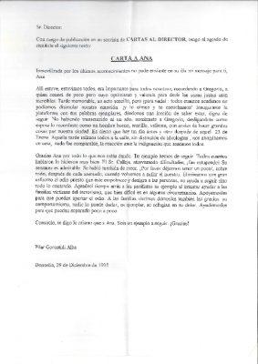 """Carta de una ciudadana """"inmovilizada"""""""