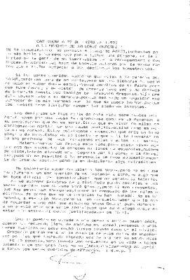 "Carta a un ""luchador por la libertad"""