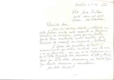 La carta de un amigo un año después del asesinato