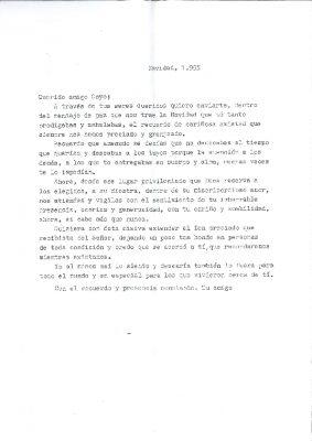 Una carta a Gregorio en su primera Navidad ausente