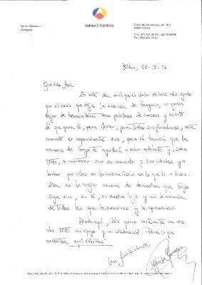 """Carta de """"consuelo y aliento"""" un año después del asesinato"""