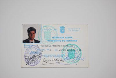 Nuevo carné como concejal tras las elecciones de 1991