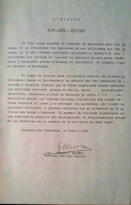"""Ordóñez critica que los gaztetxes son """"cuevas"""" al servicio de """"actos vandálicos"""" de radicales"""