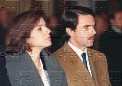 Aznar y Botella, en la misa funeral