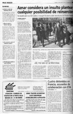 Ordóñez se opone a ceder ante ETA