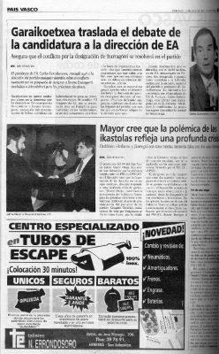 Ordóñez, candidato al Parlamento vasco