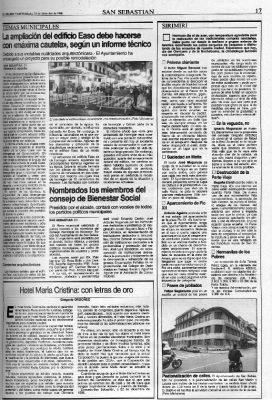 Elogio al Hotel María Cristina