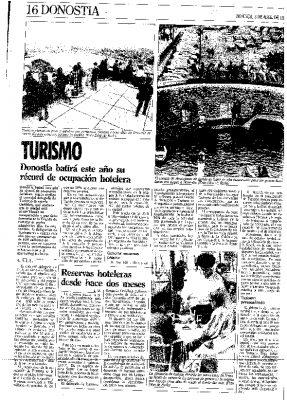 1988, año de récord en turismo