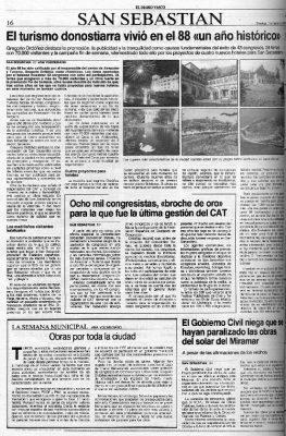 1988, año histórico para el turismo
