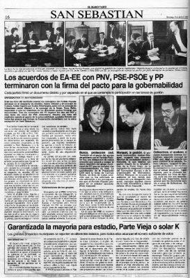 El PP, en el pacto de gobernabilidad