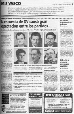 Buenas perspectivas electorales para Gregorio Ordóñez