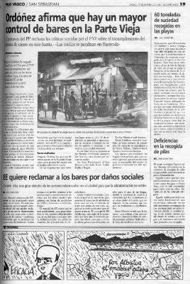 Ordóñez frena al PNV y asegura que los horarios hosteleros se cumplen