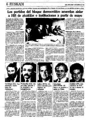 El bloque democrático de Guipúzcoa acuerda aislar a HB