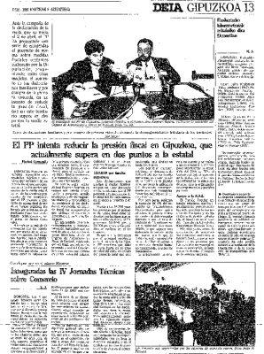 Ordóñez pide reducir la presión fiscal en Guipúzcoa