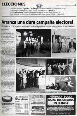 Aznar elige San Sebastián para iniciar la campaña de las generales