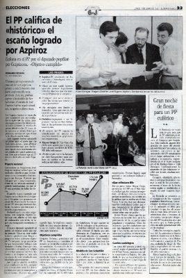 Azpiroz logra un escaño por Guipúzcoa que el PP ve histórico