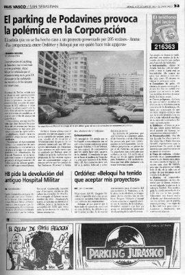 'Ordoñezsaurio' y el aparcamiento de Podavines