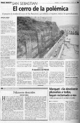 El cerro de San Bartolomé divide al tripartito