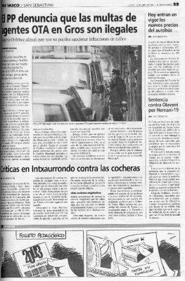 Ordóñez denuncia las multas ilegales en el barrio de Gros