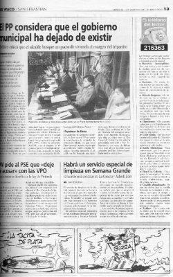Ordóñez da por roto el pacto de gobierno municipal