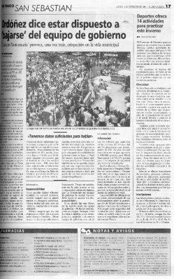 Ordóñez amenaza con dejar el Gobierno por el caso Santamaría