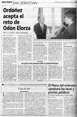 Odón Elorza reta a Ordóñez a acudir a una cumbre sobre el caso Santamaría