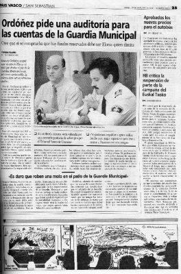 Ordóñez pide una auditoría en busca de los fondos reservados de la Guardia Municipal