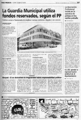 Ordóñez acusa a la Guardia Municipal de utilizar fondos reservados