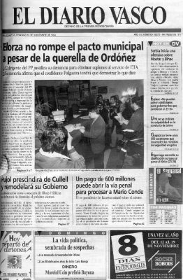 Ordóñez denuncia a Odón Elorza por prevaricación y malversación de fondos