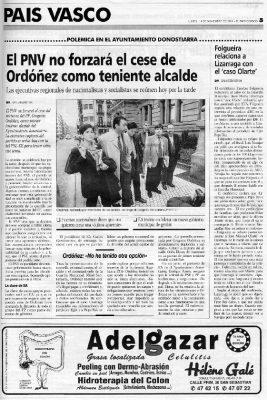 Ordóñez defiende la querella contra Elorza y Santamaría